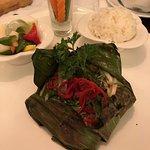 Beef in banana leaf