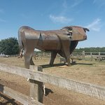 This bull sculpture is beautiful.