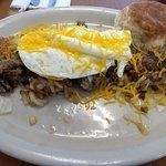 Hobo breakfast over medium