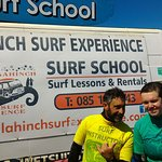 Our Special Olympian very happy with her surf school