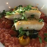 Alaskan Halibut with Sundried Tomato Risotto