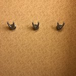Extra hooks for clothes or towels - bathroom