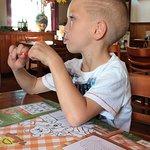 Met kleinzoon pannenkoeken eten