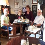 Fantastic Vera Lynn tea in a great war themed tea room. Our cousin all the way from the USA abso