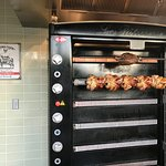 Rotisserie Prime Rib and Chicken cooking