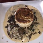 Crabcake with rosotto & mushrooms - perfect