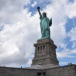 Miss Liberty in all her glory. She was really beautiful, any all pictures do not do her justice.