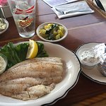 Flounder dinner