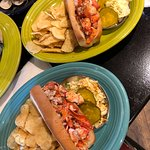 Lobster Rolls with chips and coleslaw