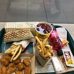 Delicioso pollo y rap tipo taco de pollo
