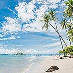 Exotica Isla Tortuga localizada en el Golfo Nicoya, Costa Rica