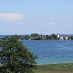 View of Herrenchiemsee from the restaurant.