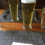 Delicious lunch and cold beer
