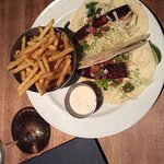 SwordFish Tacos W/Garlic Fries