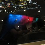 Skylon night view of falls from table
