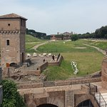 Looking along the length of the Circus Maximus