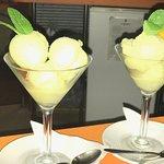 Feijoa and Pear Sorbet