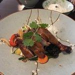 Entenkeule auf Wokgemüse