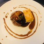 Beef and potato.. thisphoto doesn't do it justice but was incredible (get the foie gras on top t
