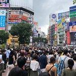 渋谷駅前 スクランブル交差点の写真
