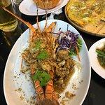 The Garlic lobster