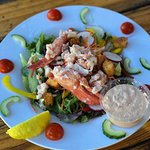 Lobster salad, available with a choice of dressings on the side