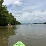 Paddling upstream on the Ohio River