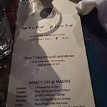 Foto de Machu Picchu South American Bar & Restaurant