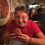 Me and my burger, sorry, so excited!