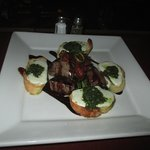 Beef Tenderloin Pesto Crostini