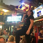 """This is the incredible """"Annie"""" one of the singing servers at Ellen's Stardust Diner at Times Squ"""