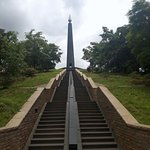 The stairway which are iconic at the National Heroes Acre