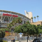 Outside of Petco Park.