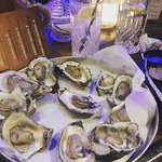Oyster lightly steamed per my PERSONAL request but I am sure they are delicious raw!