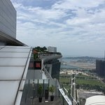 View of the Marina Bay Sands pool