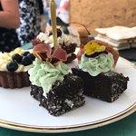 Brownies and a lemon tart