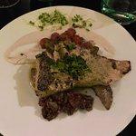 Salmon steak.