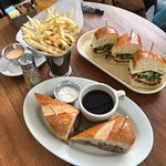 The chicken sandwich and french dip are a must.