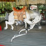 Bucking bronco on the carousel at Circus World in Baraboo.