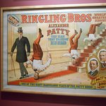 One of many original circus performance posters at Circus World.