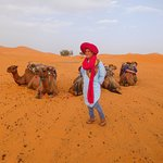 Our camel master with his camels
