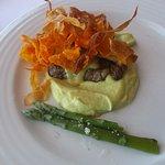 almoço peixe do rio + bife da vazia (dose partilhada do prato de carne)