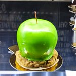 This one was white chocolate with Apple mousse on a nut biscuit. They called it Apple strudle!