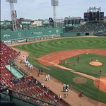 Red Sox side view from seats 3rd base line