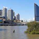 Brisbane city CBD across the river