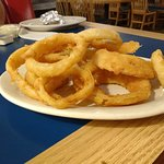 Hot delicious onion rings