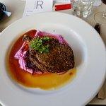 Zatar crusted pork cutlet