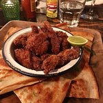 Fried Chicken and Quesadilla