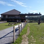 On site cafe gives great views of the ziplines and surrounding countryside