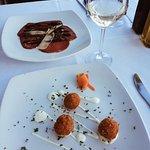 Beef Carpaccio Sundried Tomato Arancini (195 set menu 2 course)